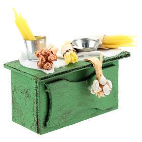 Mostrador vendedor pasta para belén napolitano de 6-8 cm s3