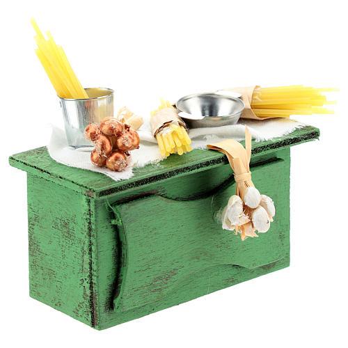 Mostrador vendedor pasta para belén napolitano de 6-8 cm 3