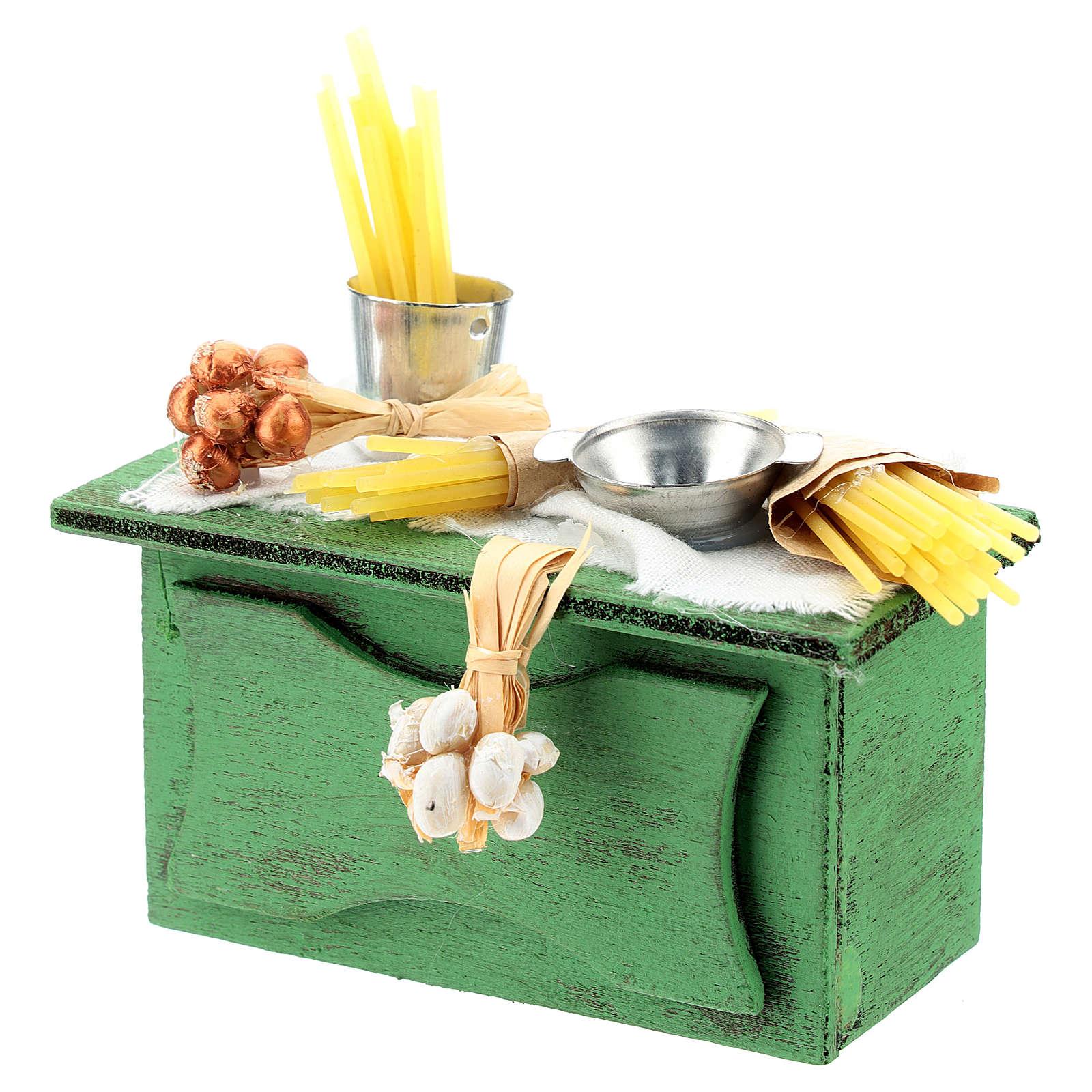 Banco venditore pasta per presepe napoletano di 6-8 cm 4