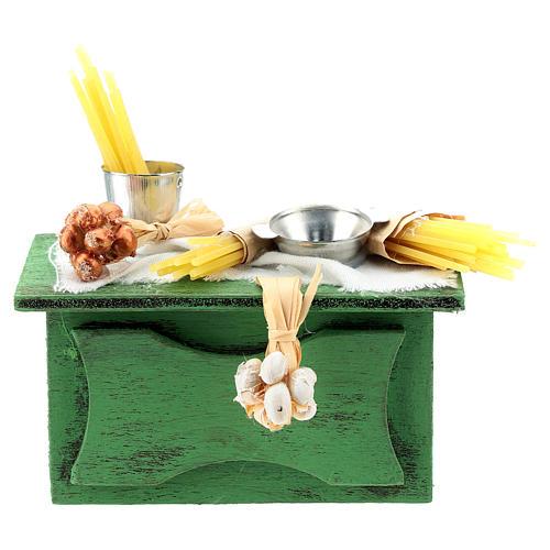 Banco venditore pasta per presepe napoletano di 6-8 cm 1