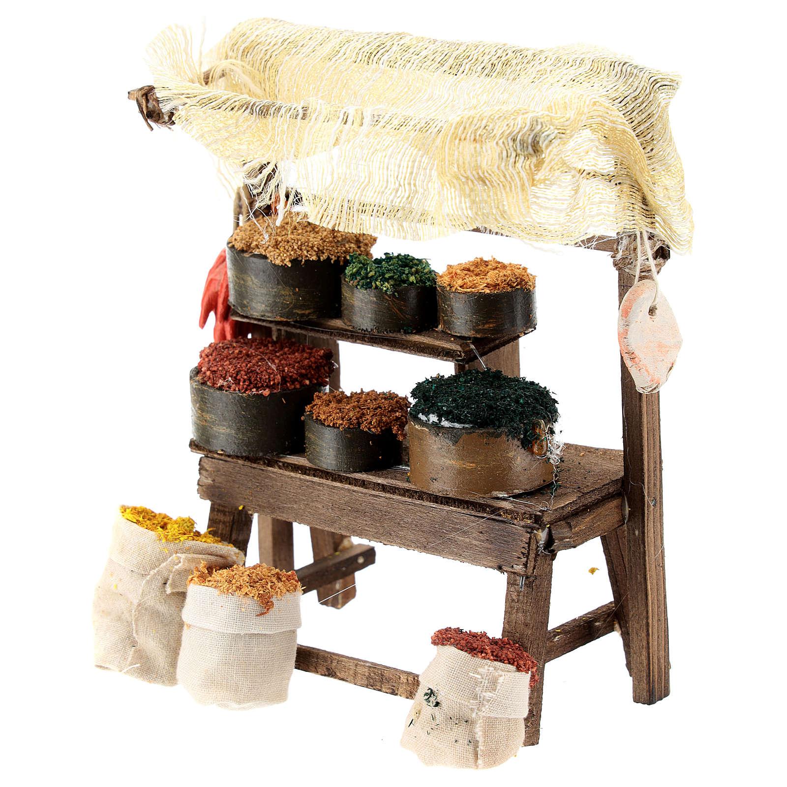 Mostrador mercado oriental para belén napolitano de 6-8 cm 4