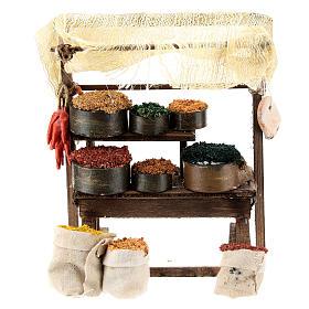 Mostrador mercado oriental para belén napolitano de 6-8 cm s1
