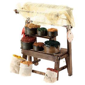 Mostrador mercado oriental para belén napolitano de 6-8 cm s2