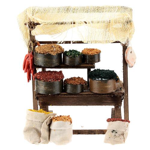 Mostrador mercado oriental para belén napolitano de 6-8 cm 1