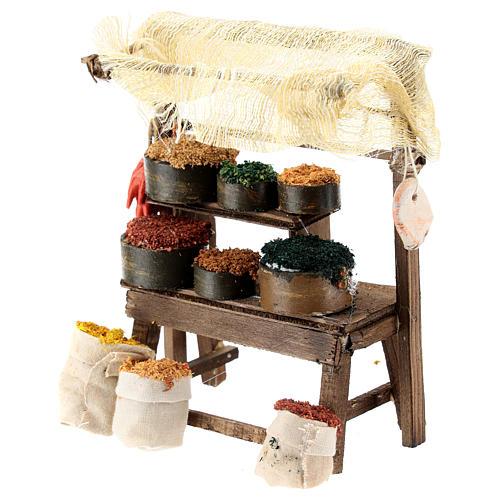 Mostrador mercado oriental para belén napolitano de 6-8 cm 2