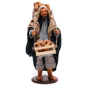 Hombre con ánforas en las cestas belén de Nápoles 14 cm de altura media s1