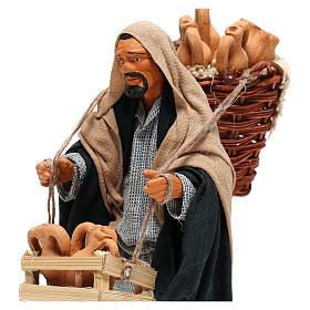 Hombre con ánforas en las cestas belén de Nápoles 14 cm de altura media s2