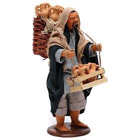 Hombre con ánforas en las cestas belén de Nápoles 14 cm de altura media s4