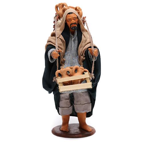Hombre con ánforas en las cestas belén de Nápoles 14 cm de altura media 1