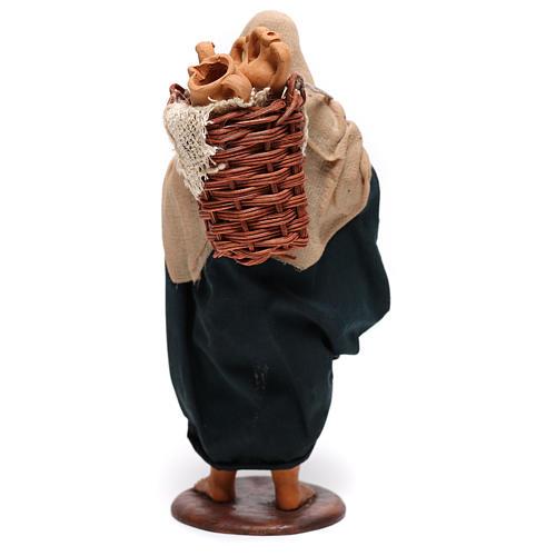 Hombre con ánforas en las cestas belén de Nápoles 14 cm de altura media 5