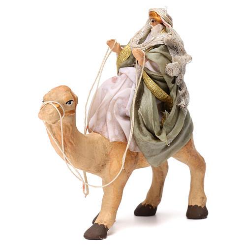 Re magio sul cammello in terracotta per presepe Napoli 6 cm 1