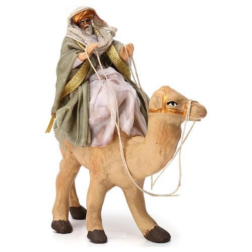 Re magio sul cammello in terracotta per presepe Napoli 6 cm 3