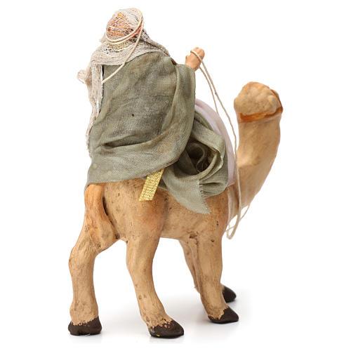 Re magio sul cammello in terracotta per presepe Napoli 6 cm 6