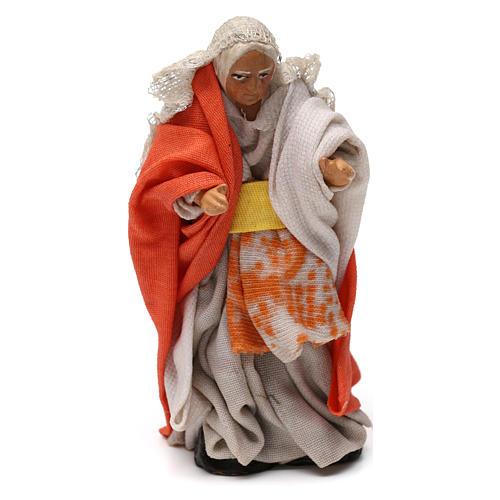 Old woman on balcony Neapolitan Nativity Scene 8 cm 1