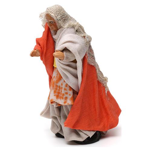 Old woman on balcony Neapolitan Nativity Scene 8 cm 2