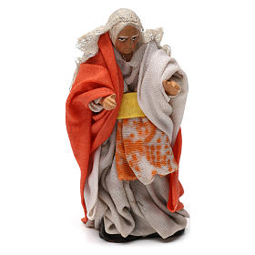 Old lady at the balcony for 8 cm Neapolitan nativity s1