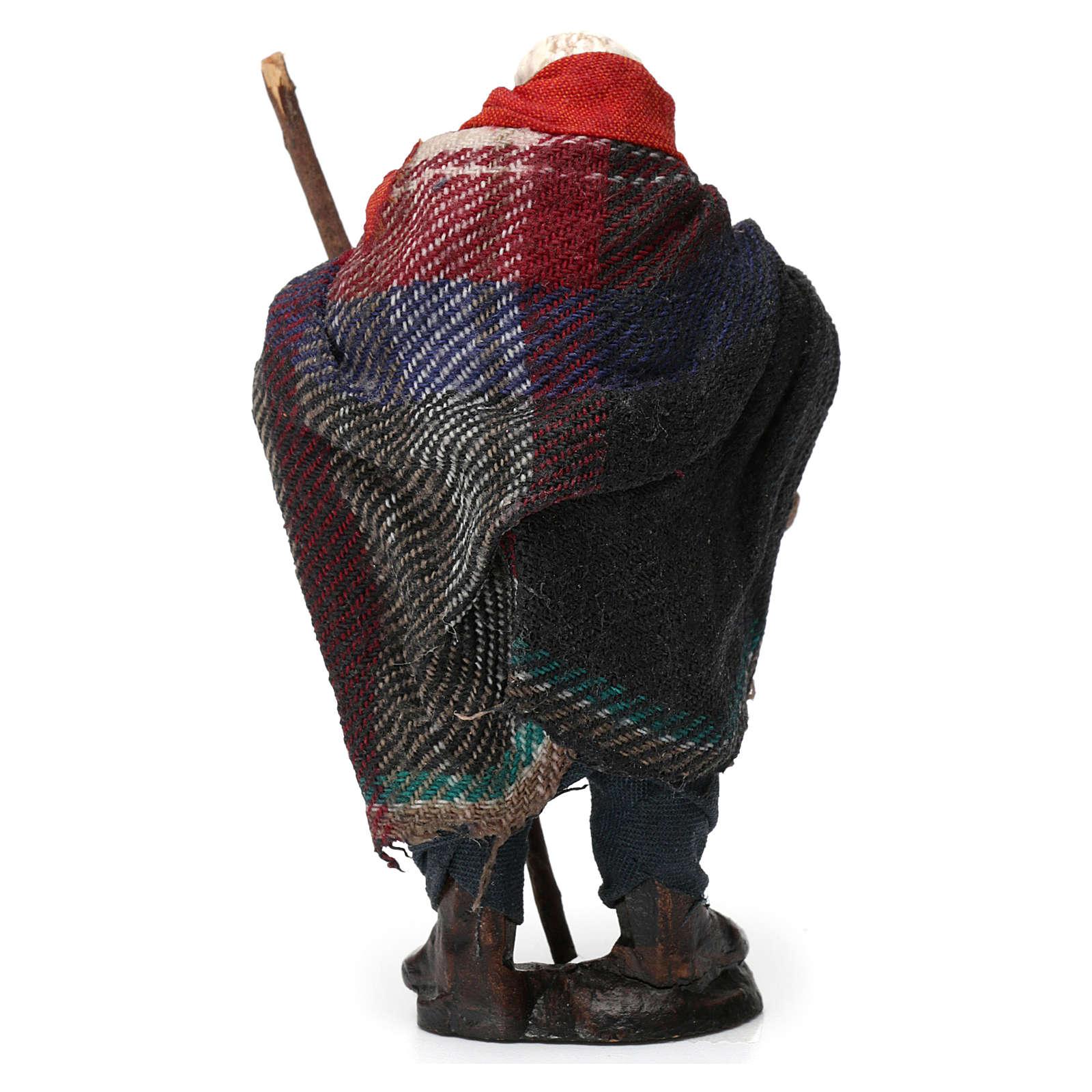 Hombre con cesta de fruta para belén napolitano 8 cm de altura media 4