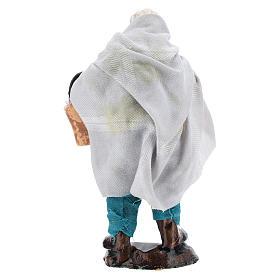 Homme avec panier de fruits pour crèche napolitaine 8 cm s4