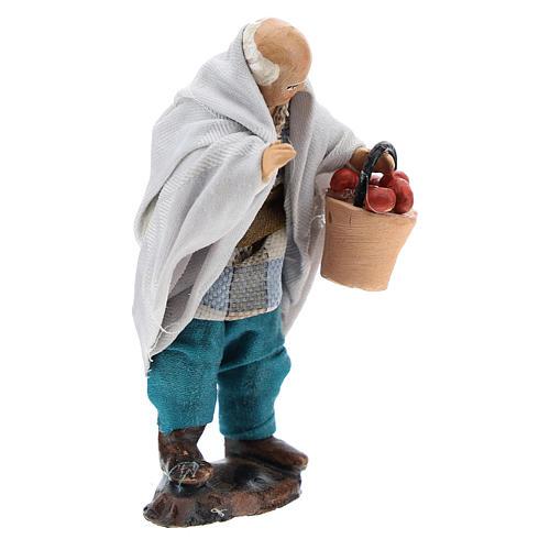 Uomo con cesto di frutta per presepe napoletano 8 cm 3