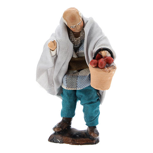 Man with Fruit Basket for Neapolitan nativity 8 cm 1