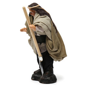 Farmer with Hoe for Neapolitan nativity of 8 cm s2