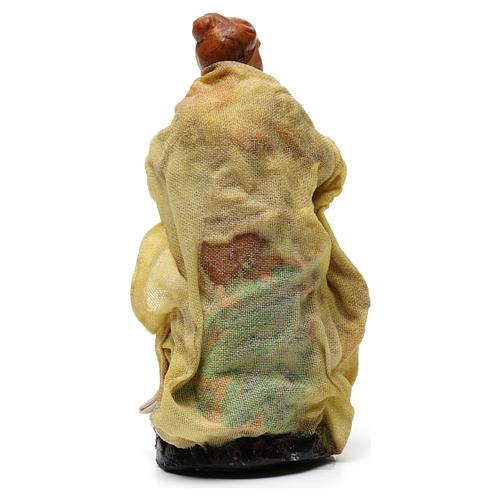 Pastorella per presepe napoletano di 8 cm 3