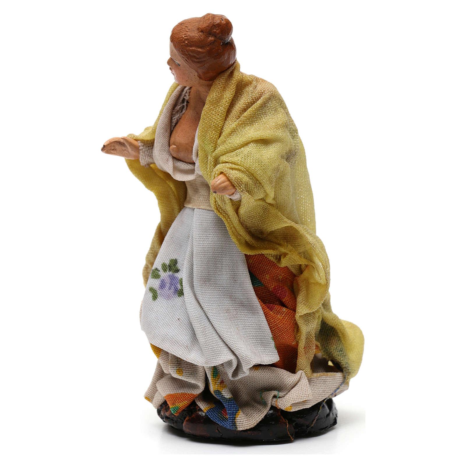 Shepherdess for Neapolitan nativity of 8 cm 4