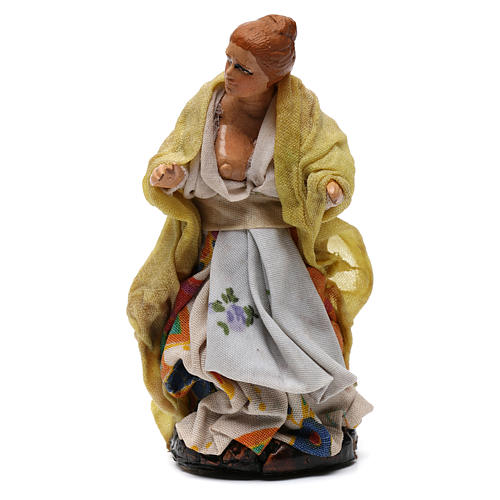 Shepherdess for Neapolitan nativity of 8 cm 1