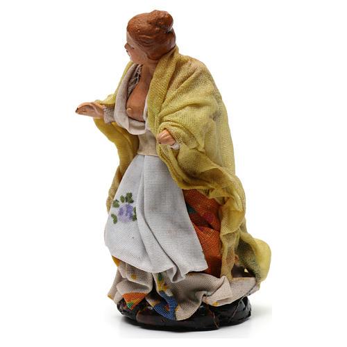 Shepherdess for Neapolitan nativity of 8 cm 2