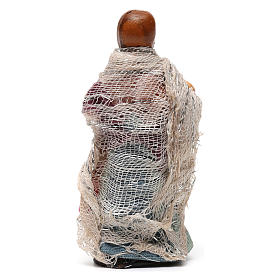 Niña con muñeca para belén napolitano de 8 cm de altura media s3
