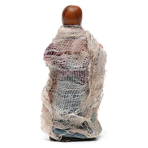 Niña con muñeca para belén napolitano de 8 cm de altura media 3