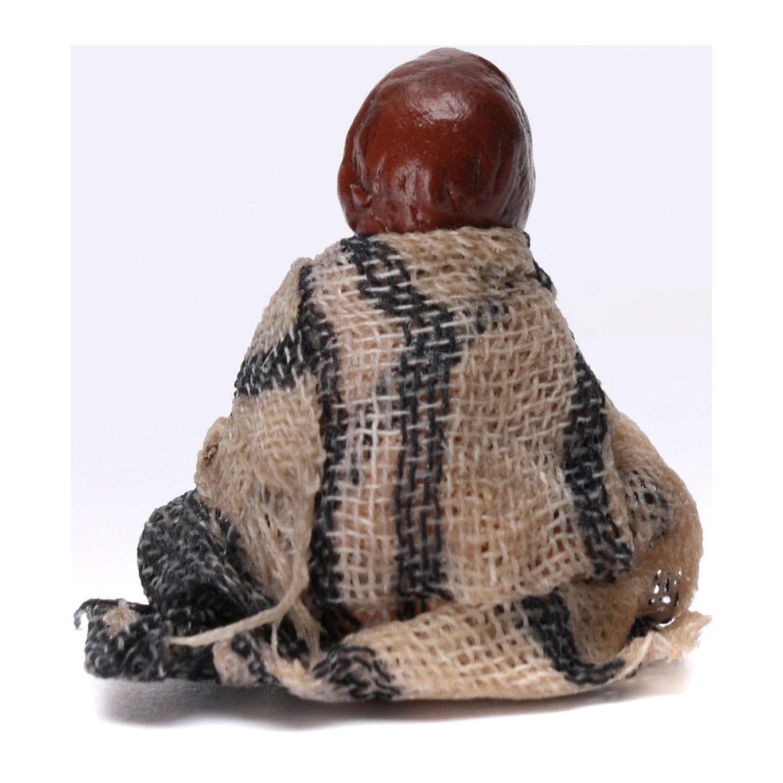 Enfant assis par terre pour crèche napolitaine de 8 cm 4