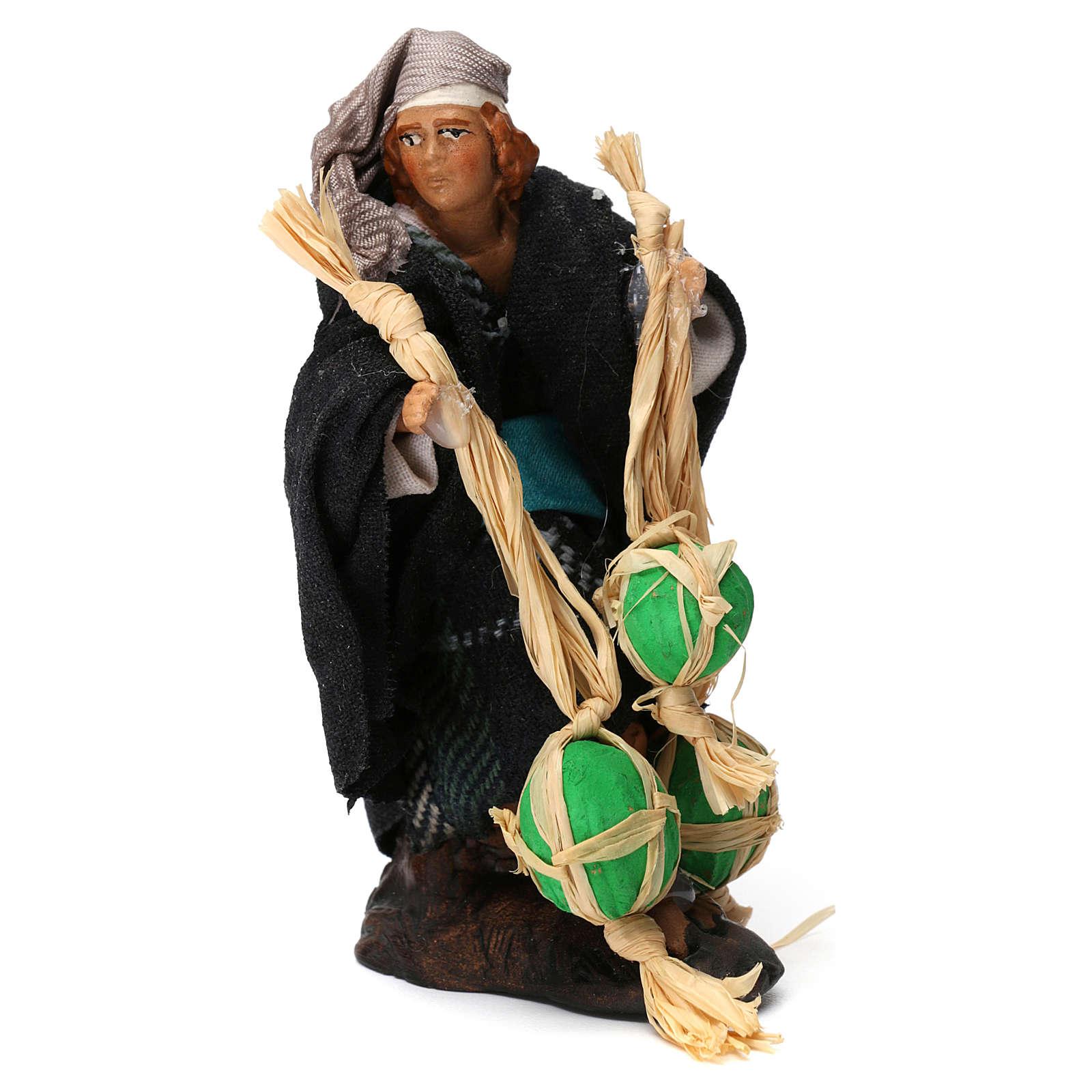 Uomo con angurie per presepe napoletano di 8 cm 4