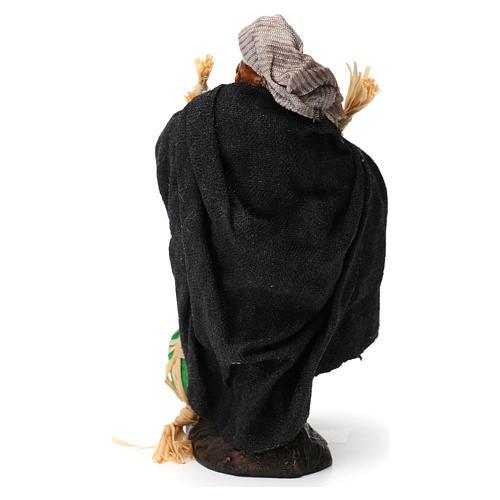 Uomo con angurie per presepe napoletano di 8 cm 5