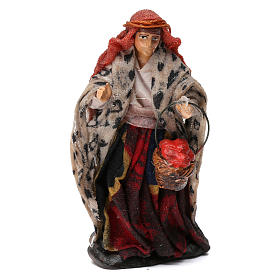 Woman Shepherd with Fruit Basket for 8 cm Neapolitan nativity s1