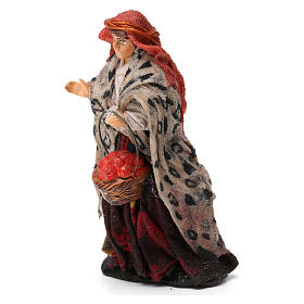 Woman Shepherd with Fruit Basket for 8 cm Neapolitan nativity s2