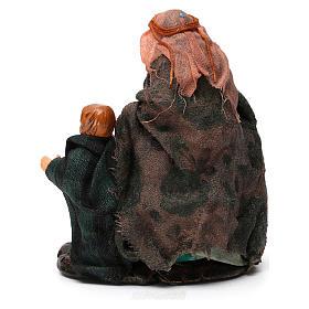 Donna con bambino per presepe napoletano di 8 cm s5