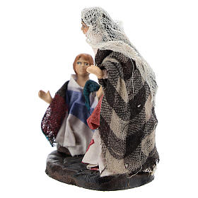 Woman with Boy for Neapolitan nativity of 8 cm s2
