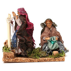 Working laundresses Neapolitan Nativity Scene 8 cm s1