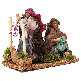 Working laundresses Neapolitan Nativity Scene 8 cm s3