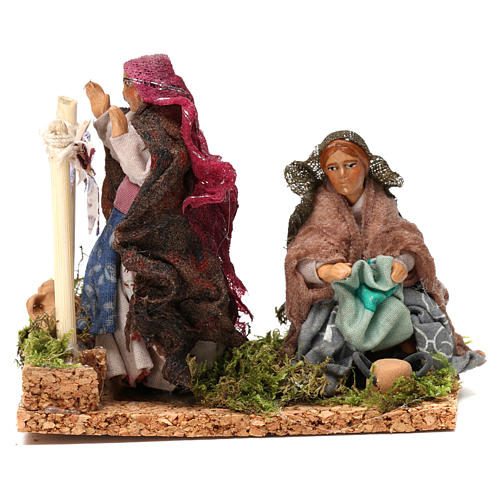 Working laundresses Neapolitan Nativity Scene 8 cm 1