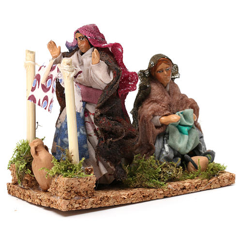 Working laundresses Neapolitan Nativity Scene 8 cm 3