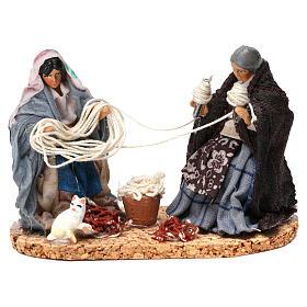 Working spinners Neapolitan Nativity Scene 8 cm s1