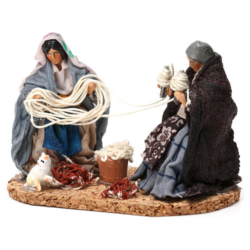 Working spinners Neapolitan Nativity Scene 8 cm 2