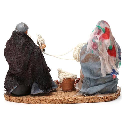 Working spinners Neapolitan Nativity Scene 8 cm 3