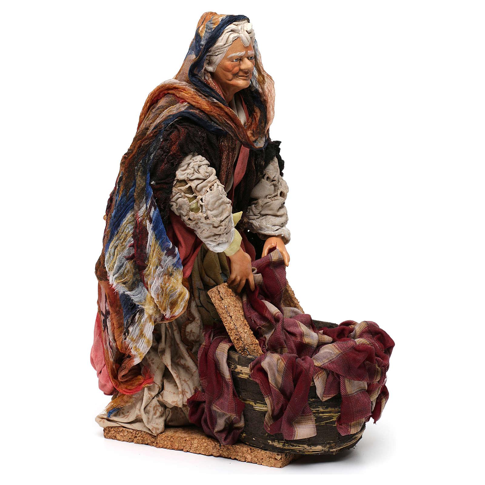 Laundress 18th-century style Neapolitan Nativity Scene 30 cm 4