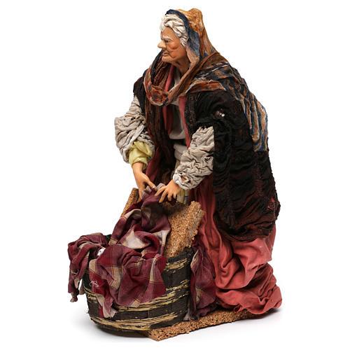 Laundress 18th-century style Neapolitan Nativity Scene 30 cm 3