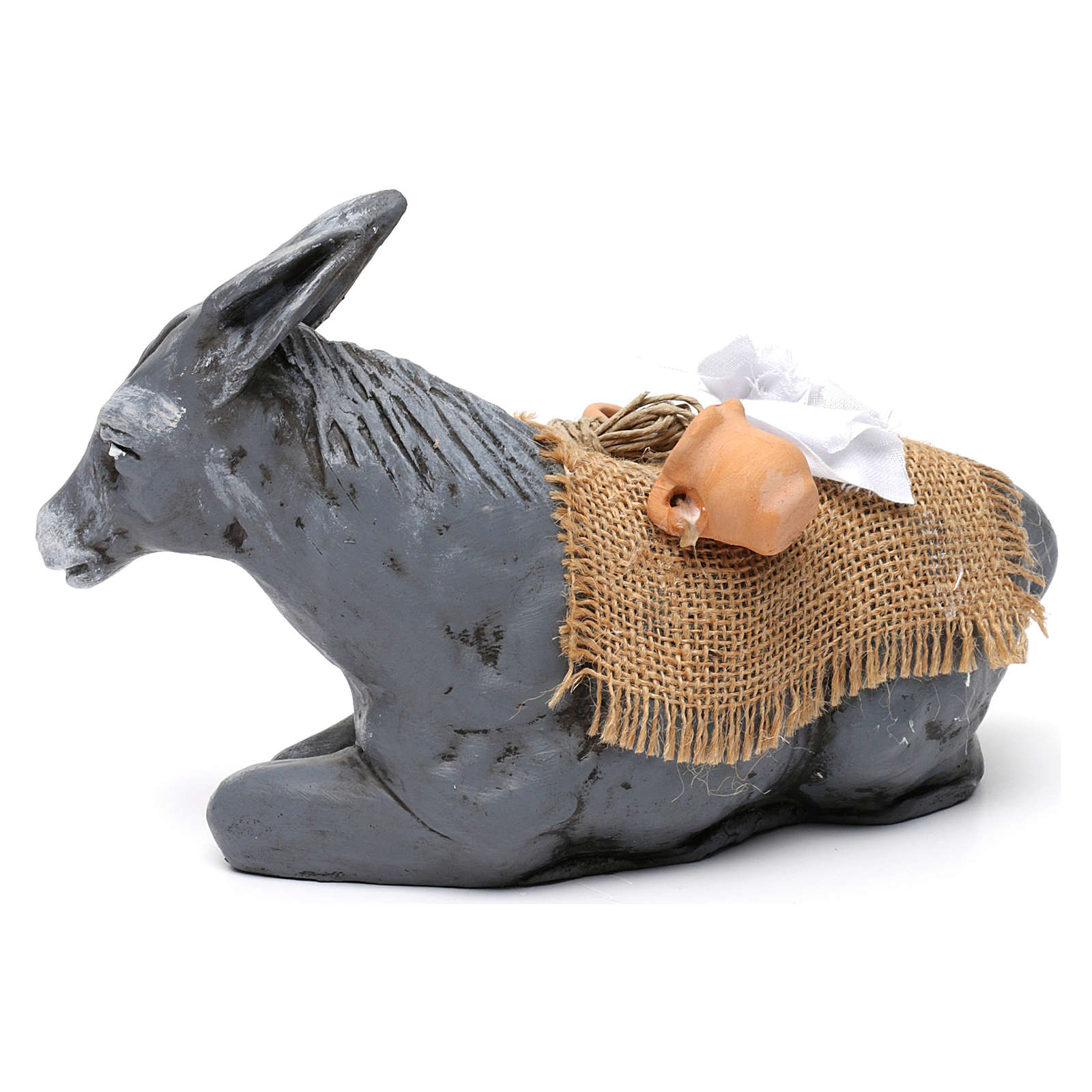 Donkey Carrying Objects for Neapolotian nativity style 700s of 35 cm 4