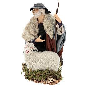 Man with sheep for Neapolitan nativity scene 35 cm s3