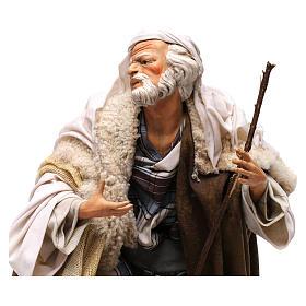 Uomo con pecora per presepe napoletano stile 700 da 35 cm s5
